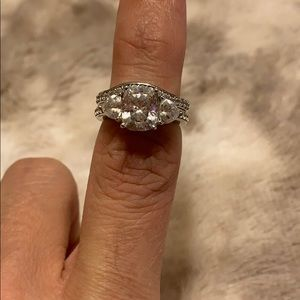 Jewelry - Diamonique 2.95 cttw, Platinum clad on Sterling